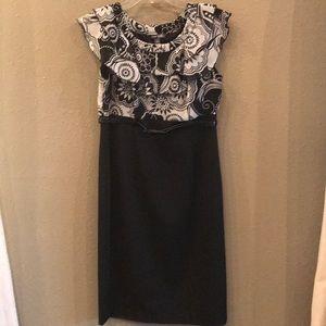 Voir Voir Black & White Ruffle Dress
